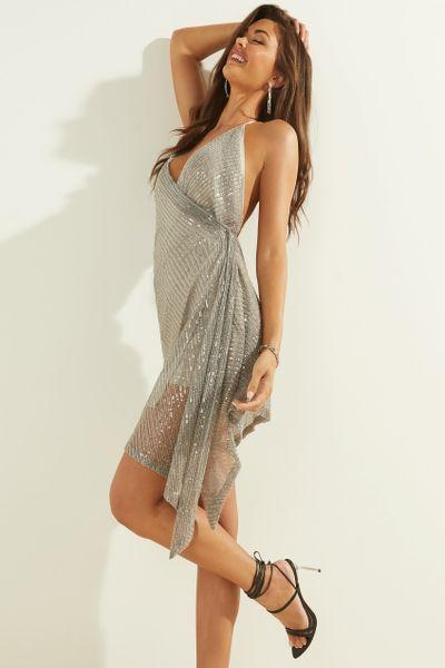 Vestido-mini-de-noche-GUESS
