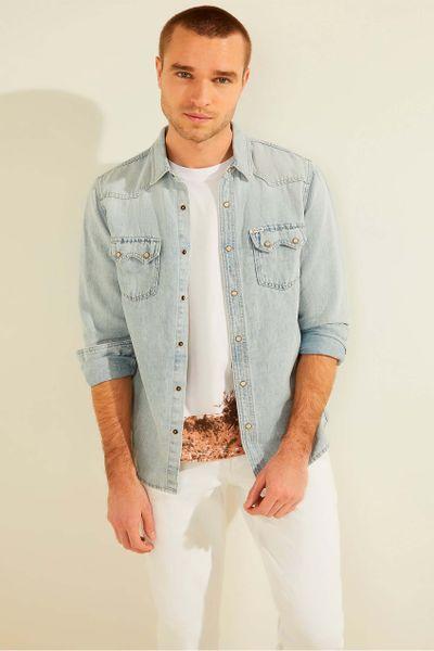 Camisa-de-mezclilla-manga-larga-para-caballero-GUESS