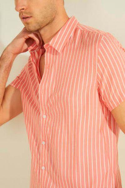 Camisa-manga-corta-a-rayas-GUESS